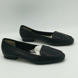 Bettye Muller Valu Pebbled Leather Loafer  Black
